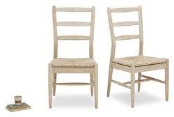 Pair of Hobnob Kitchen Chairs in Oak