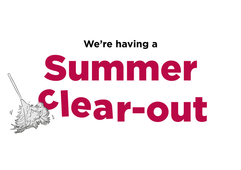 SUMMER CLEAR OUT BLOG