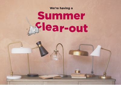 SUMMER CLEAR OUT LIGHTING BLOG 1