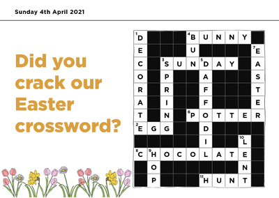 Easter crossword blog answers 1