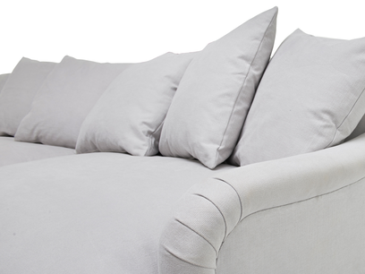 Achilles sofa - feather filled back cushions