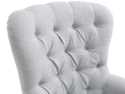 Hound Dog armchair with deep-buttoned back
