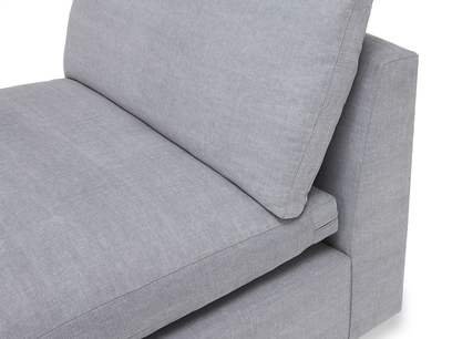 Cuddlemuffin modular sofa single seat back detail