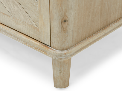 Grand Fandangle wooden sideboard leg detail