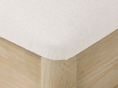 Lippy dressing table stool oak corner detail