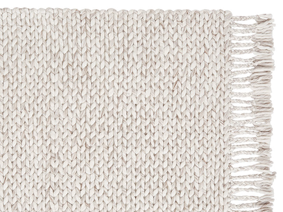 Chunkster natural woven floor rug corner detail