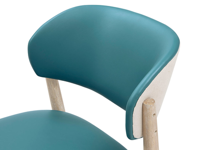 Popcorn ktichen chair back detail