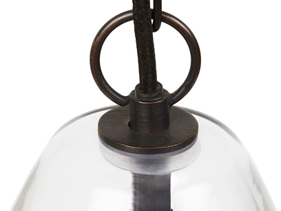 Raindrop glass pendant light detail