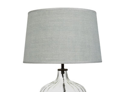 Flute glass bedside lamp Sea Salt shade