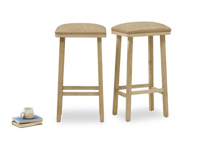 Tall Bumpkin leather kitchen stools