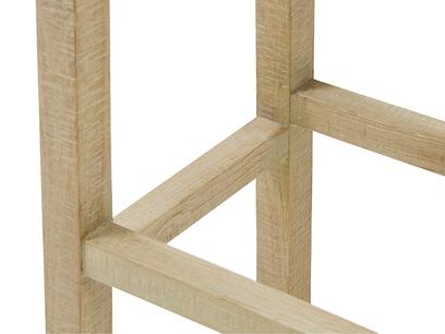 Tall Bumpkin bar stool wooden leg detail