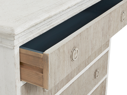 Tilda chest of drawers handpainted open drawer