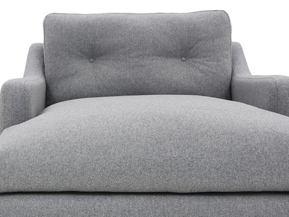 Slim Jim Love Seat Chaise Front Detail