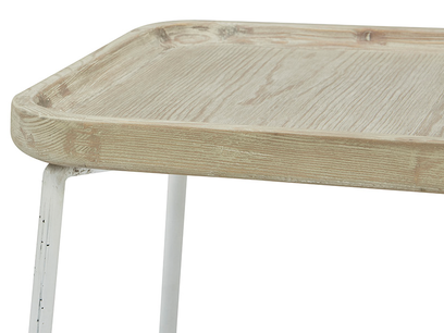 Cuppa Wooden Lipped Side Table Top Corner