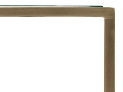 Shimmy Brass Nest of Tables Top Corner