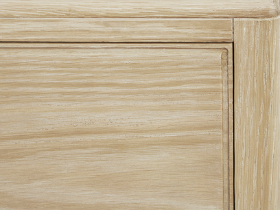 Josephine Oak Chest of Drawers Top Corner
