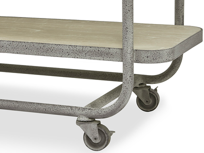Busboy Industrial Style trolley shelves wheels detail