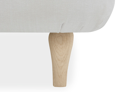 Sugar Puff French Style Upholstered Bed Leg Detail
