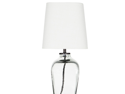 Ernie Square Glass Table Lamp Side View