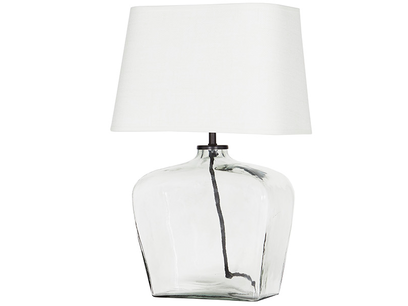 Ernie Square Glass Table Lamp Angle View