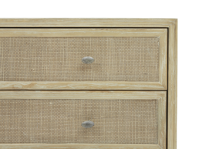 Willow Chest of Drawers Rattan Detail