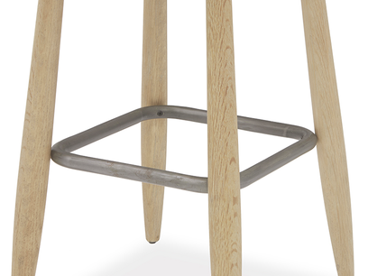 Booty wood and metal stool legs