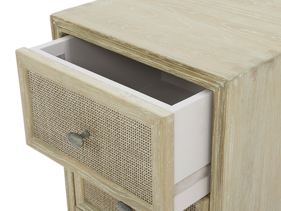 Little Willow small side table with drawers open