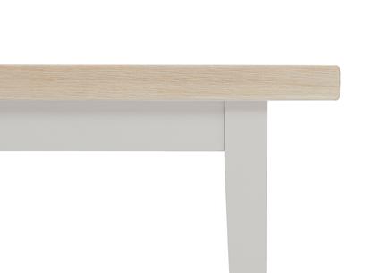 Plonk in pale grey dining bench leg detail