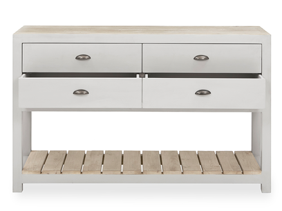 Provender reclaimed wood sideboard in grey front view drawer detail
