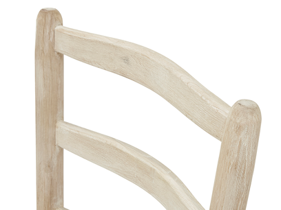 Hobnob curved back dining chair in natural back detail