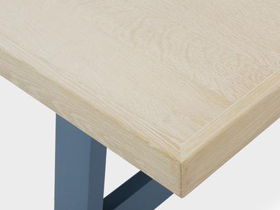 Trestle Kitchen Table in Blue Corner Detail