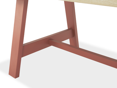 Trestle Kitchen Table in Rust Base Detail