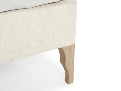 luna upholstered bed leg