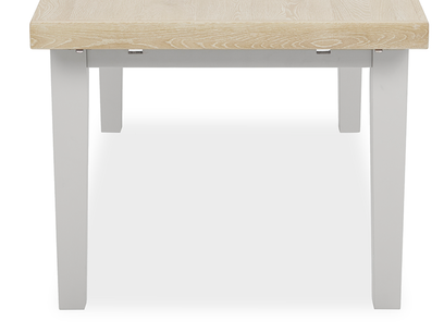 Pantry in pale grey kitchen table side detail