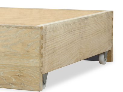 dinkum in oak beautiful under bed drawer and storage DCO