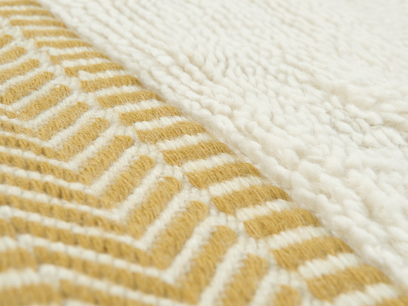 Loom rug in Burnt Yellow 1