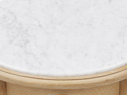 Bella side table in Marble top detail 2