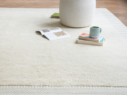 Loom handmade woven rug in Mouse Grey