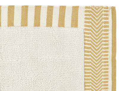 Loom living room rug in Burnt Yellow