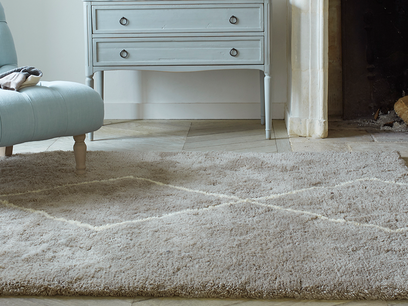 Casbah woven rug in Ash Grey