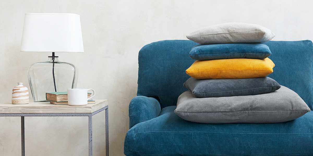 Clever Cord cushions and sofas with corduroy fabric