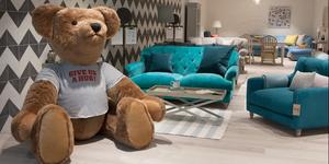 Guildford showroom bernie bear hug