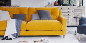 Slim Jim sofa in Saffron Yellow clever cord