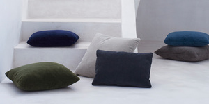 Clever Cord corduroy colourful fabric cushions