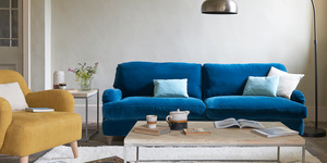 Jonesy sofa in Indian Blue clever cord