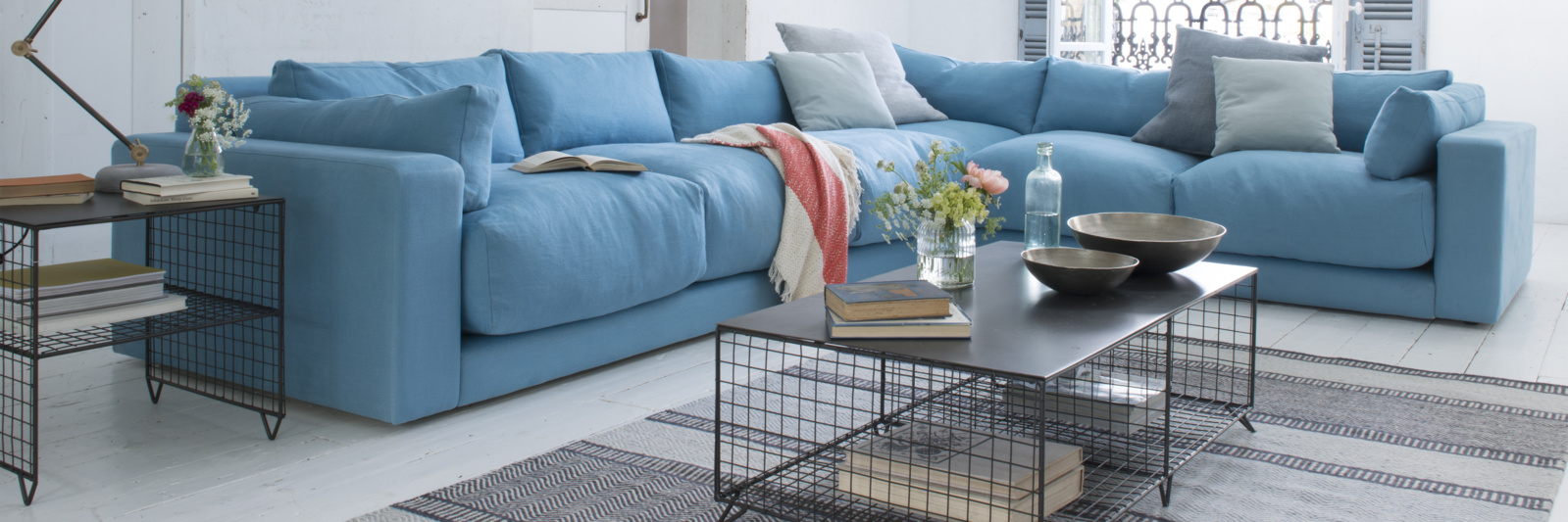 Atticus comfy British-made corner sofa