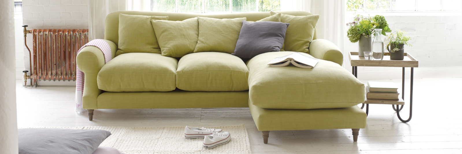 Green Corner Sofas | Order Free Fabric Swatches | Loaf