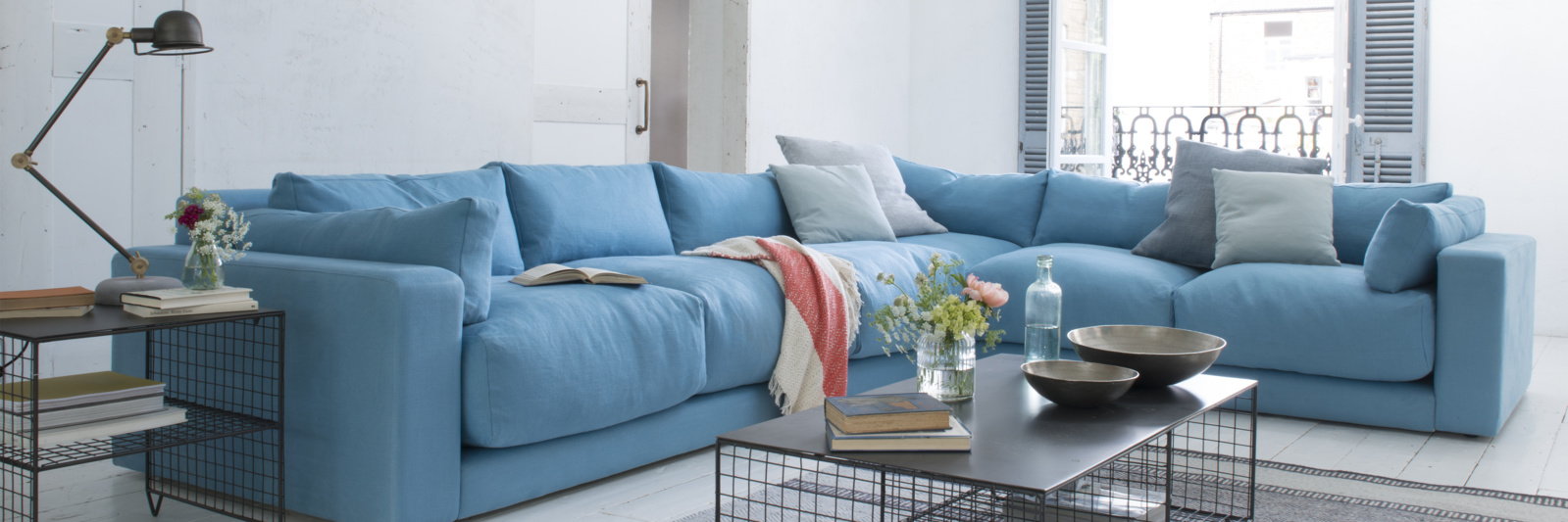 Contemporary deep corner luxury british made sofa
