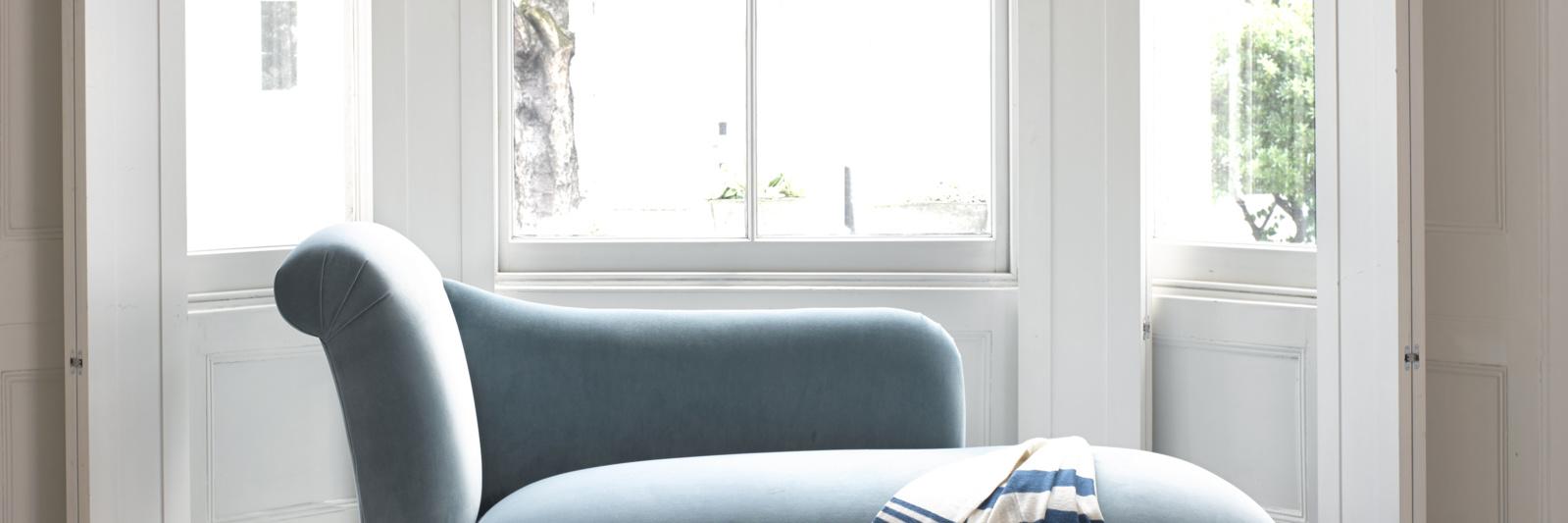 Bronte hand made contemporary chaise longue sofa