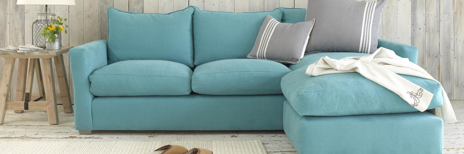 Contemporary British made pavilion corner sofa